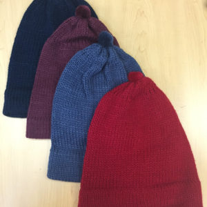 Solid Color Knitted Beanie Alpaca Hat