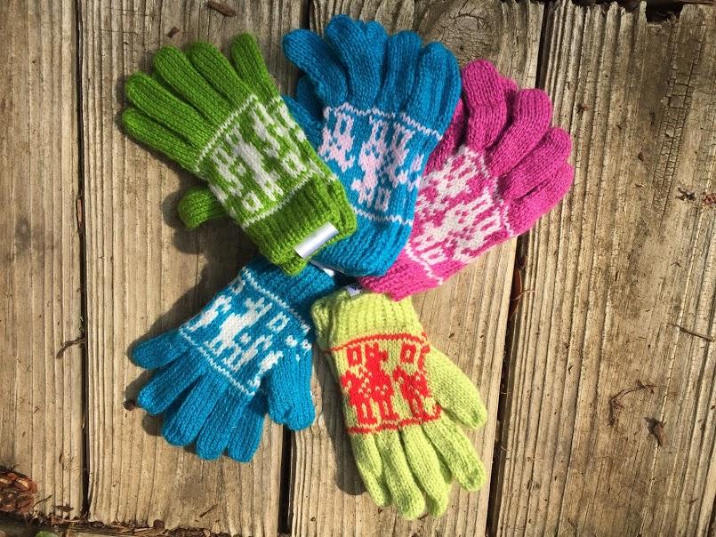 Alpaca / Llama Motif Gloves for Children