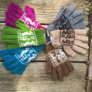 Alpaca / Llama Motif Gloves for Children