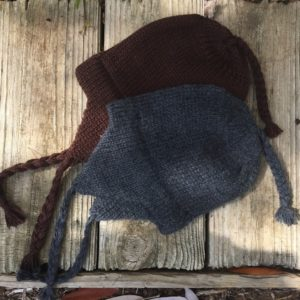 Double Knitted Solid Color Ear Flap Alpaca Hat for Children