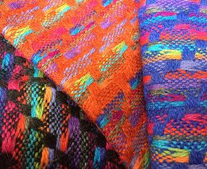 100% Baby Alpaca Multicolor Woven Scarf