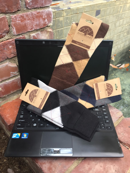 Alpaca Argyle Mens Dress Socks