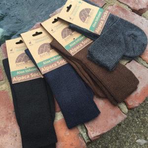 Mens Dress Ribbed Crew Alpaca socks