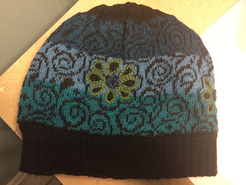Embroidered Daisy Fleece Hat