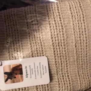 "100% Alpaca ASPEN ""Vick"" scarf"