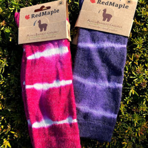 Women's Tie Dye Alpaca Socks