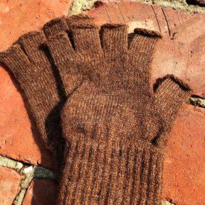 Men's Fingerless Alpaca Gloves