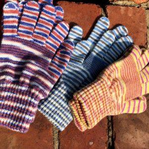 Women's Candy Stripe Full Finger Gloves