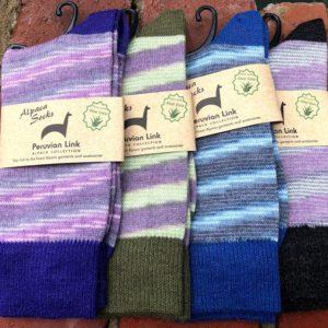 Women's Alpaca Candy Stripe Socks
